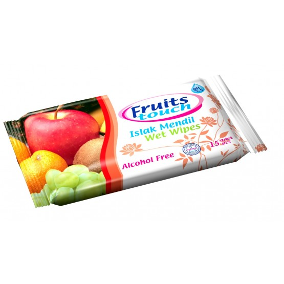 Pocket Wet Wipes Fruit Touch 15 pcs