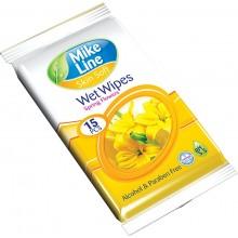 Pocket Wet Wipes Spring Flower 15 pcs
