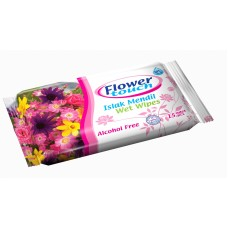 Pocket Wet Wipes Flower Touch 15 pcs