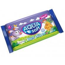 Pocket Wet Wipes Aqua Soft 15 pcs